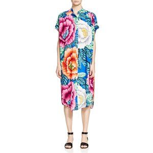 Mara Hoffman Flora Blue Shirt Dress Midi